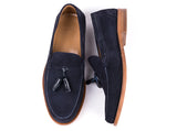 Tasseled Loafers // Blue Suede