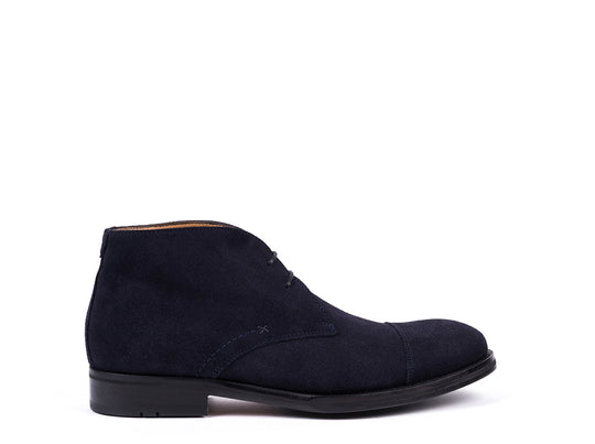 Boots // Dark Blue Suede