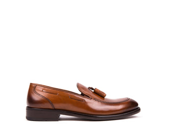 Tasseled Loafers // Camel Leather