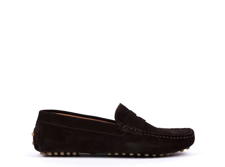 Car Shoes // Brown Suede