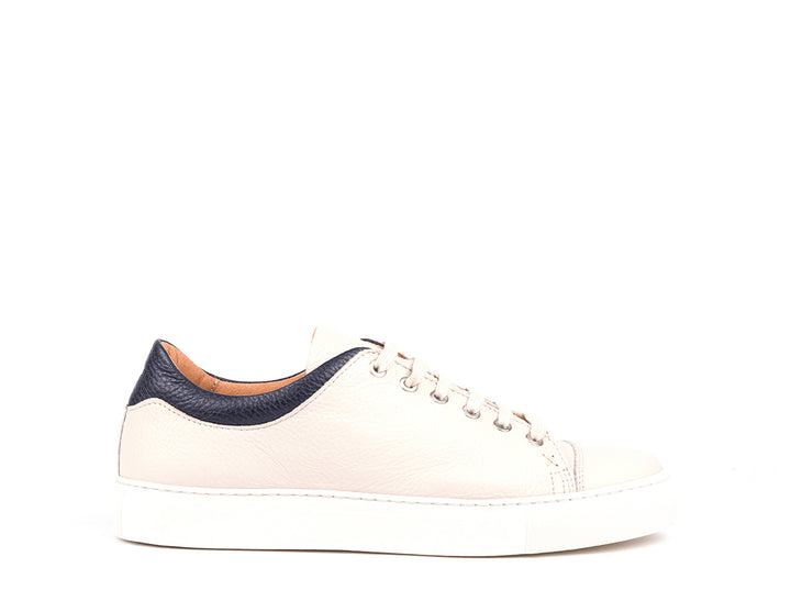 Sneakers // White and Blue Leather