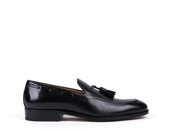 Tasseled Loafers // Black Leather