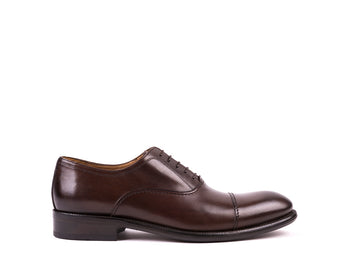 Oxford Cap Toe // Dark Brown Leather