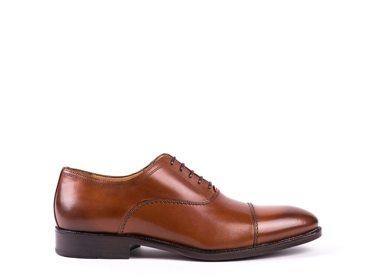Oxford Cap Toe // Camel Leather