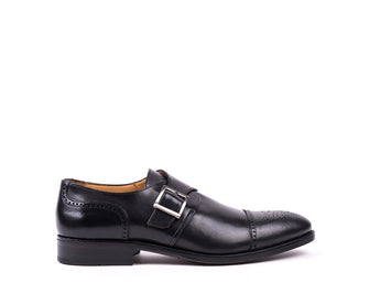 Monk Strap // Black Leather