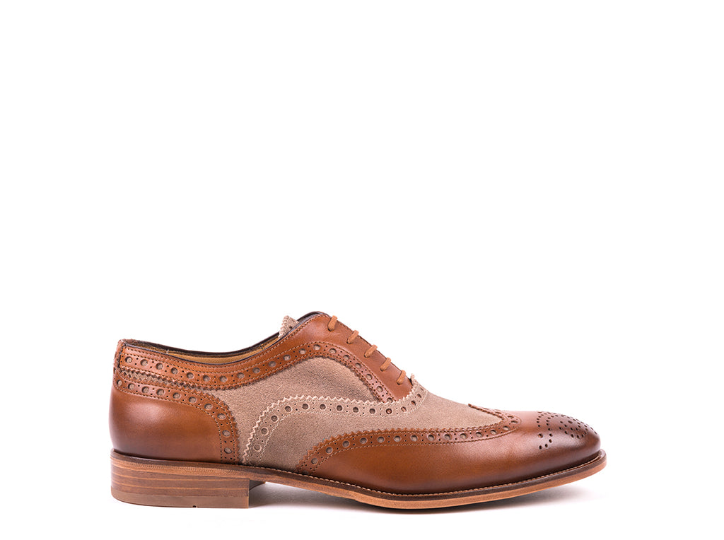 Brogue  // Camel Leather and Taupe Suede