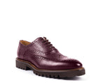 Gentlewoman - Shoes // Bordeaux Engraved Leather WOMAN / ZILIAN