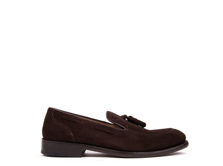 Tasseled Loafers // Dark Brown Suede