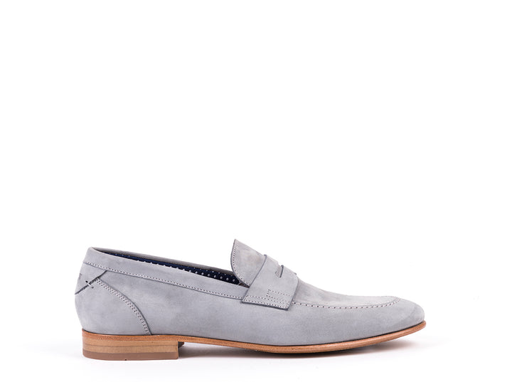 Penny Loafers // Grey Nobuck
