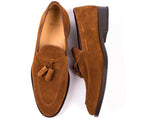 Tasseled Loafers // Brown Suede