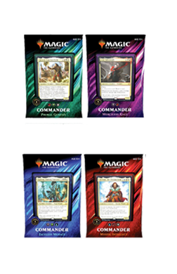 Full set of 4 Commander 2019 Decks