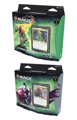 Set of 2 Zendikar Rising Commander Decks - Sneak Attack and Land's Wrath - Pre-order for 25 September 2020