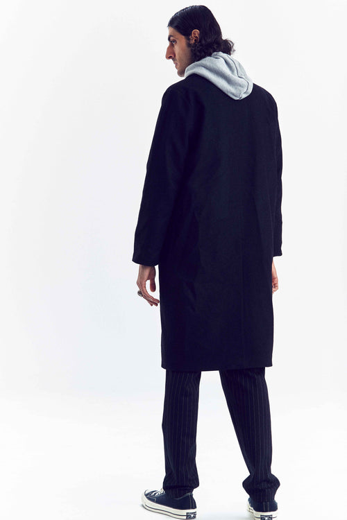 """BUSINESS"" BLACK WOOL COAT"