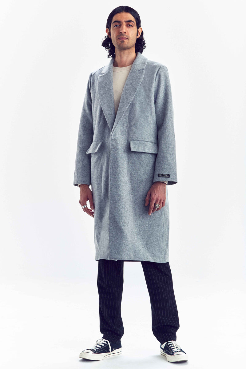 """BUSINESS"" GREY WOOL COAT"