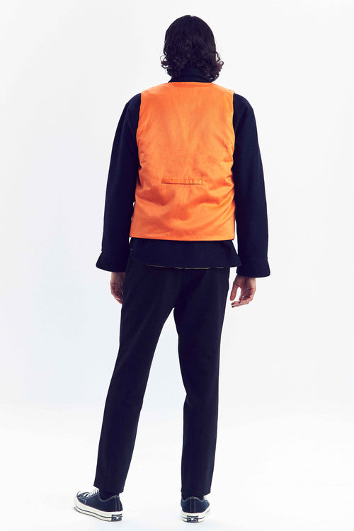 DIEMONDE JAKT VEST ORANGE MAN CUSTOM MADE PRODUCT BACKUNISEX