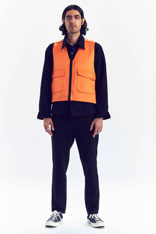 DIEMONDE JAKT VEST ORANGE MAN CUSTOM MADE PRODUCT FRONT UNISEX