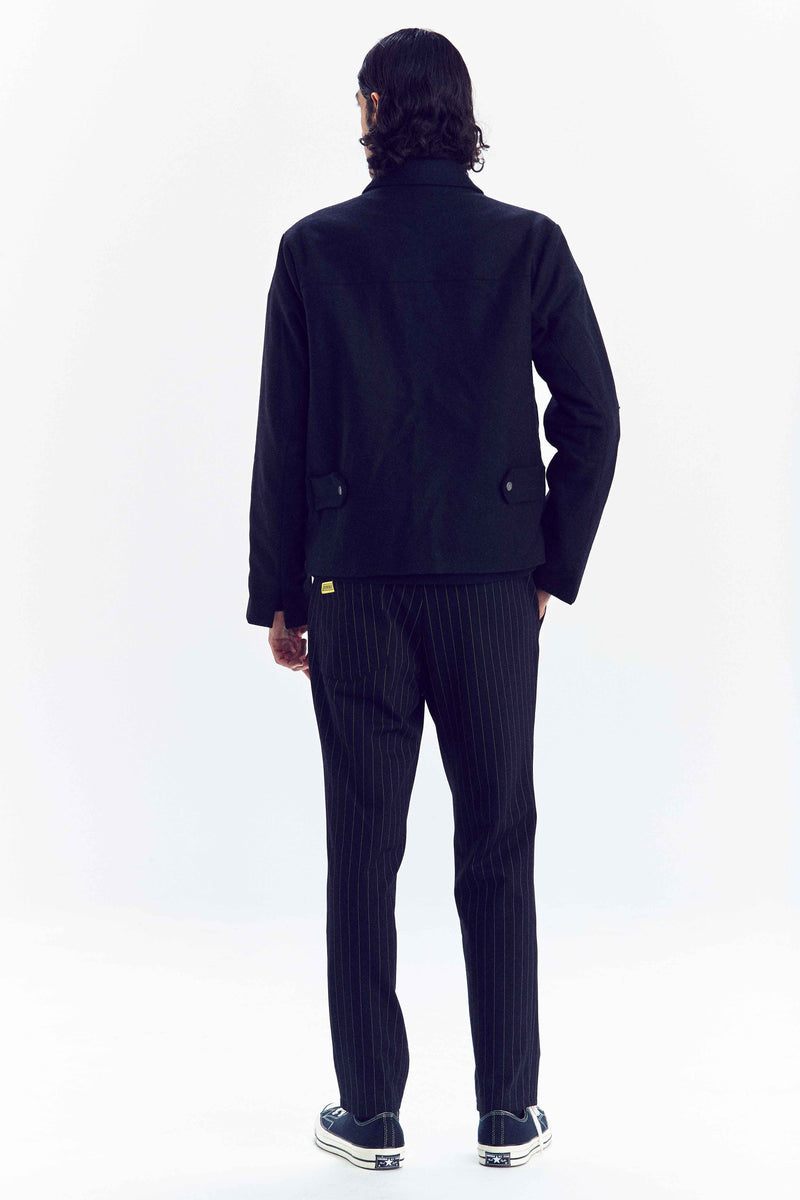 """MIDSUMMER EVE"" BLACK WOOL JACKET"