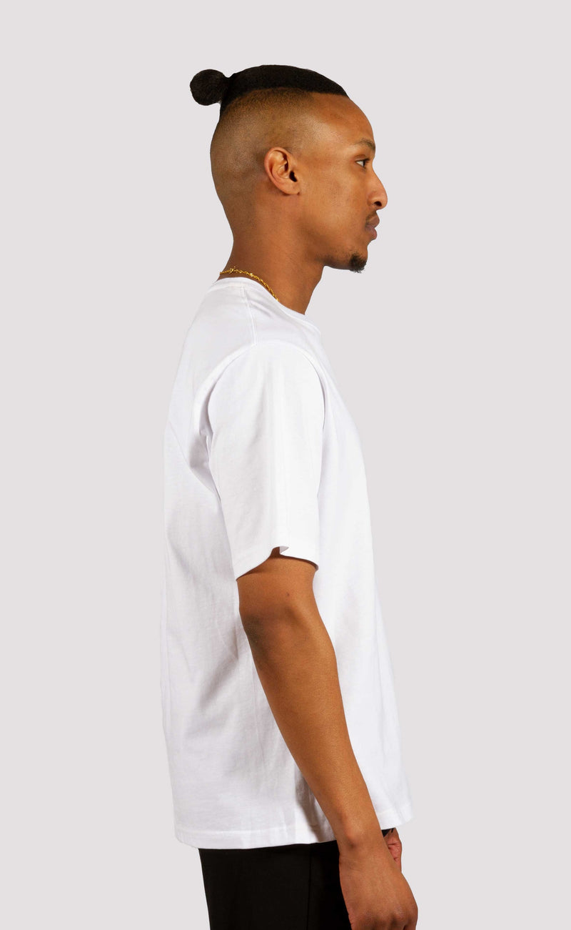 """STY"" WORDMARK PRINTED WHITE T-SHIRT"