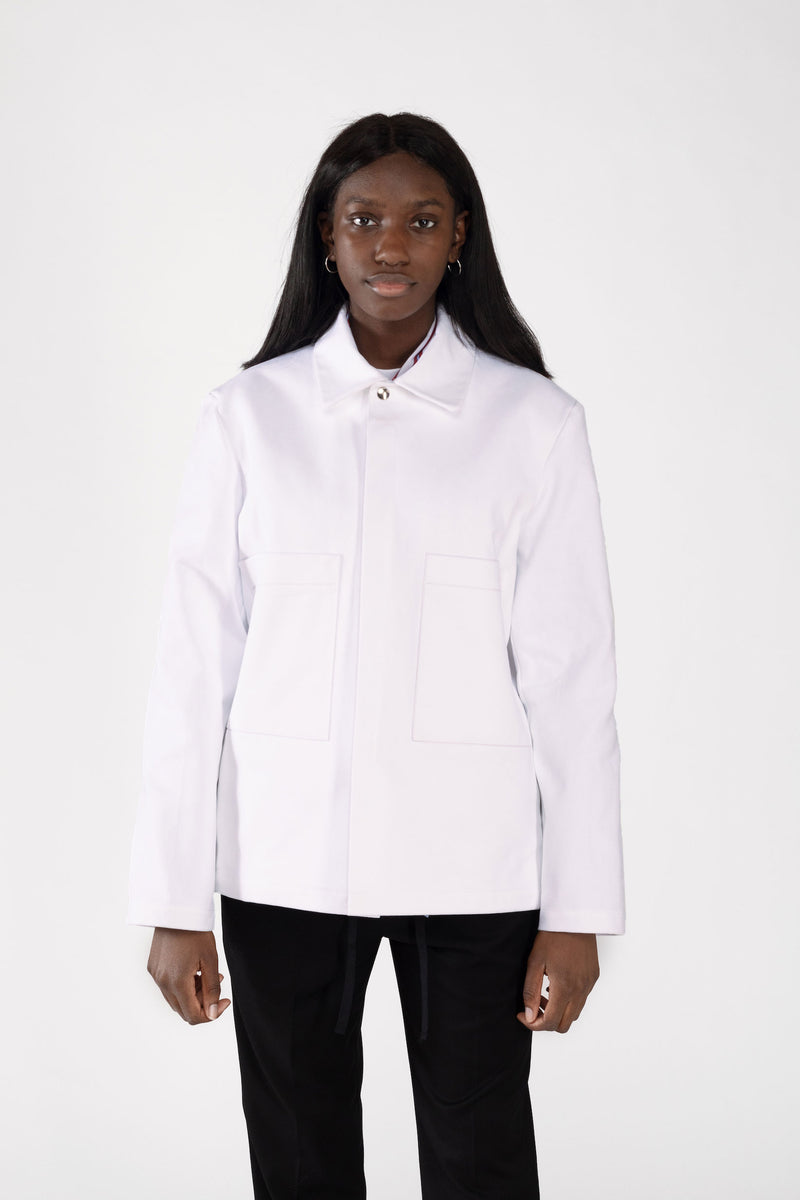 """WORK"" TWILL WHITE JACKET"