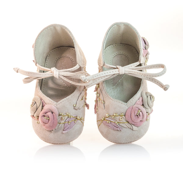 Vibys-Baby-Shoes-Briar-Rose-top-view