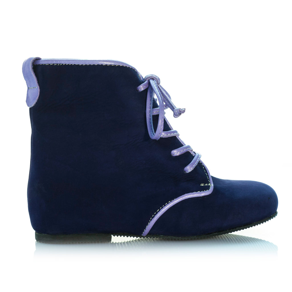 Vibys-Baby-Shoes-Dewberry-Blue-kids-laceup-leather-boots-side-view