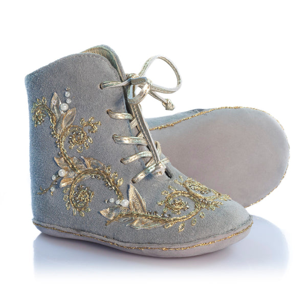 Vibys-Baby-Shoes-Fleur-Oceane-Gray-sole-view