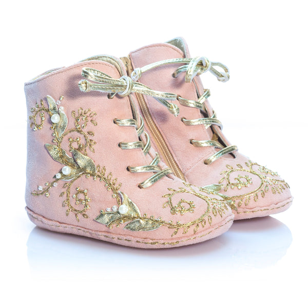 Fleur Océane - Pink - Vibys baby shoes pair