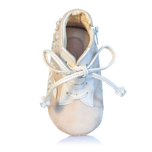 Vibys Baby Shoes Porcelain Ivy top view