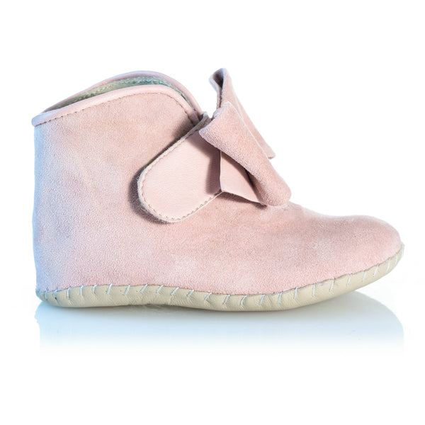 Vibys-Baby-Shoes-Puppy-Paws-Bow-Topped-Pink-side-view