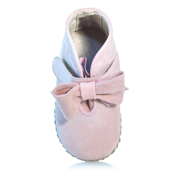 Vibys-Baby-Shoes-Puppy-Paws-Bow-Topped-Pink-top-view