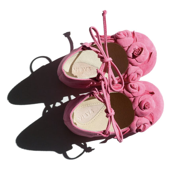 Vibys-Pink-Soft-soled-Handmade-Leather-Baby-Girl-Shoes-Berry-Bloom