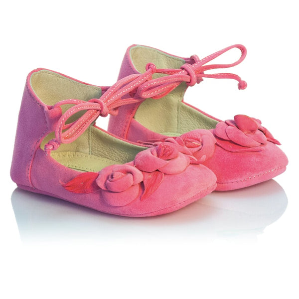 Vibys-Handmade-Rose-Embellished-Leather-Baby-Shoes-Berry-Bloom-pair-view