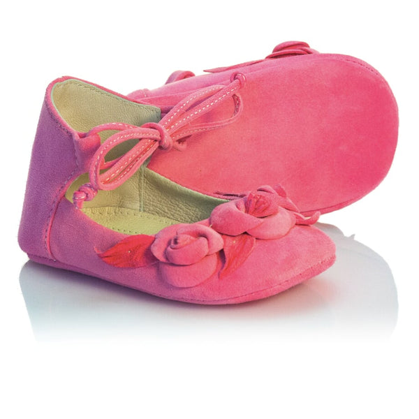 Vibys-Barefoot-Leather-Baby-Shoes-Pink-Berry-Bloom-sole-view
