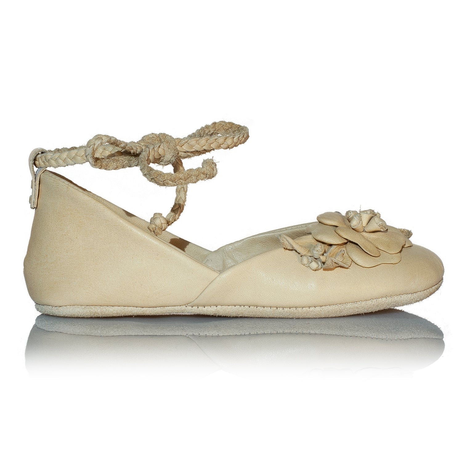 Vibys-Braided-Floral-Leather-Baby-Girl-Ballerinas-Mari-side-view
