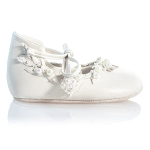 Vibys Barefoot Kids Shoes White Forest side view
