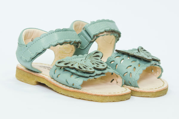 Angulus mint butterfly open toe Sandals