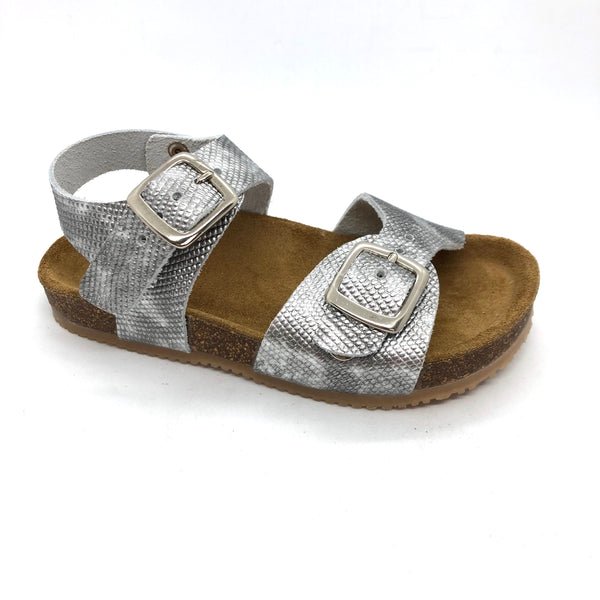 Bellamy 17395003-lucie Girls Silver Sandals with buckles