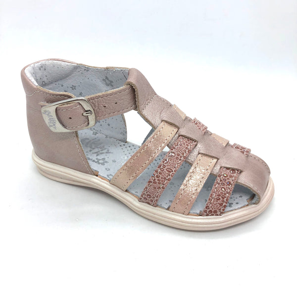 Bellamy Gensac Sandals nude leather with buckle fastener