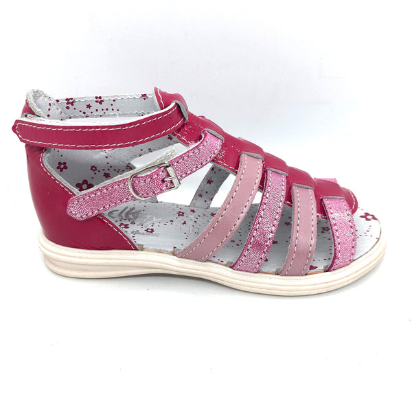 Bellamy 17200003-ganac Girls Pink gladiator Sandals