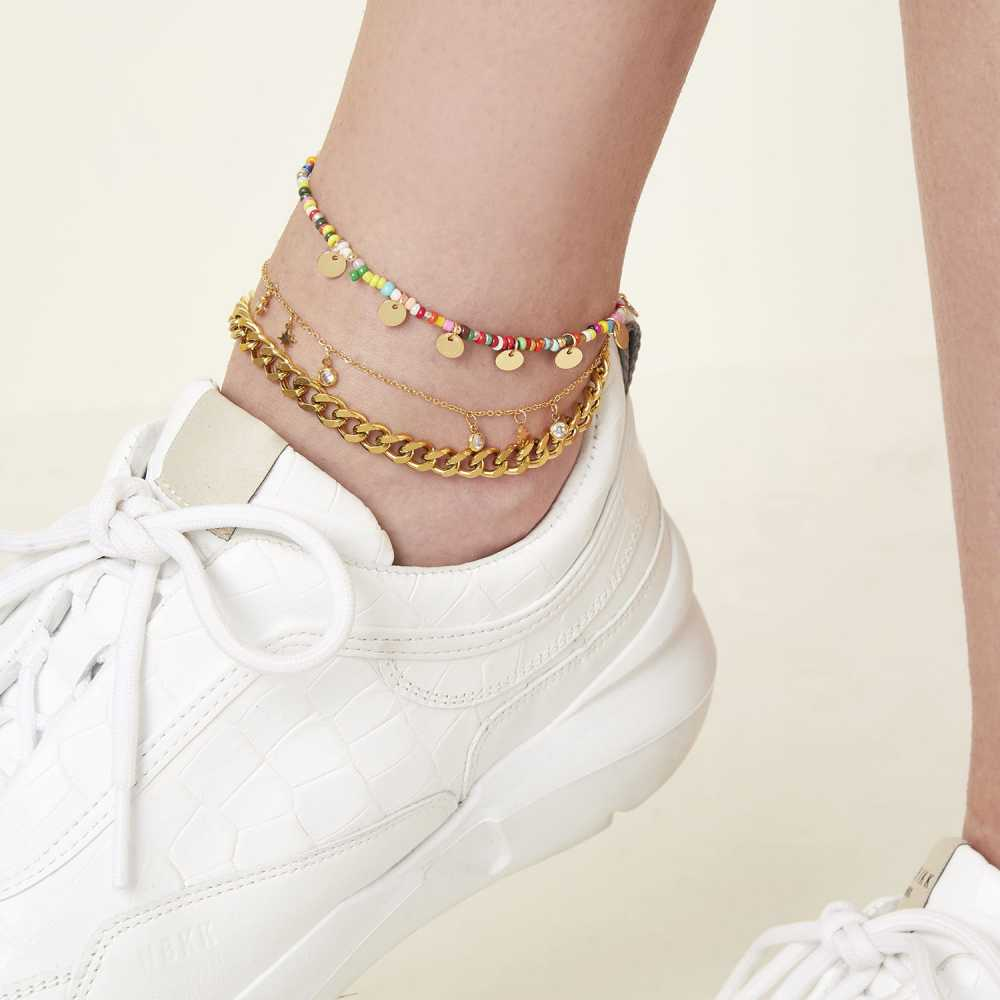 Women's Stainless Steel Bold Chain Anklet
