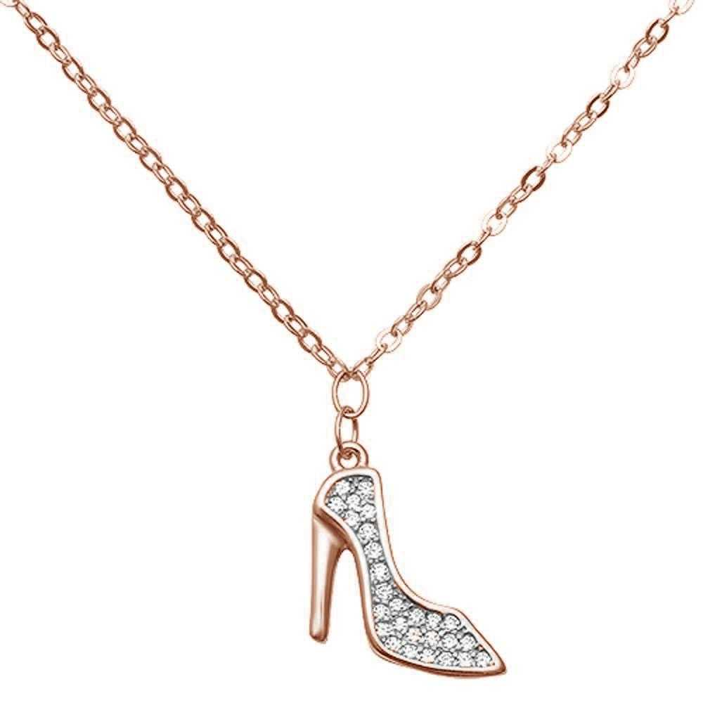 Women's Sterling Silver High Heel Pendant With 18-Inch Chain