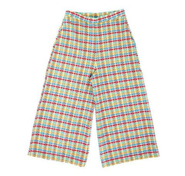 Gingham waffle cropped trouser [Yellow Gingham] Swim Lilliput & Felix extra-small