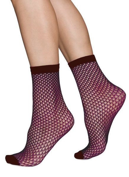 Vera net ankle sock [Red]
