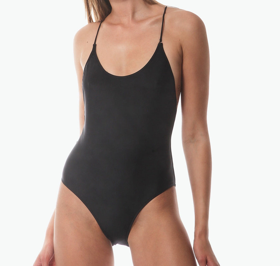 Cross back one piece [Black] Swim Bower Swimwear