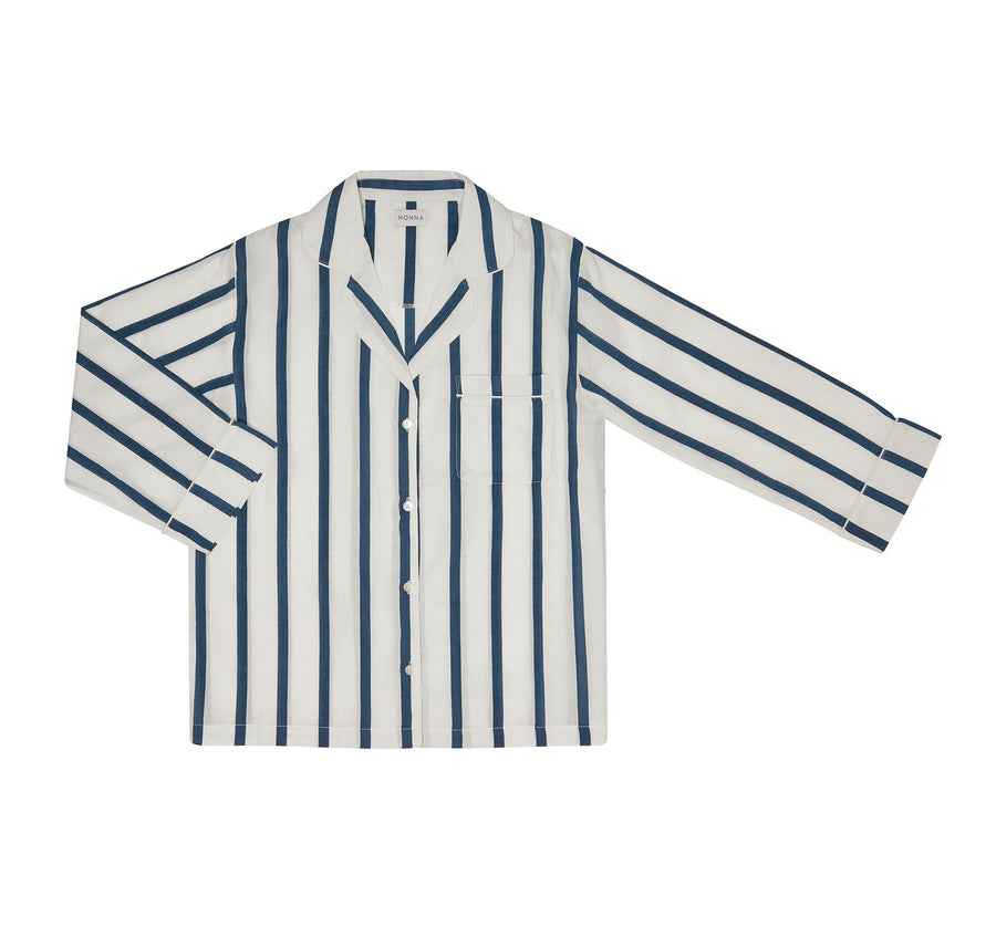 navy striped pjs