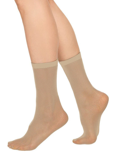 Liv net ankle sock [Beige]