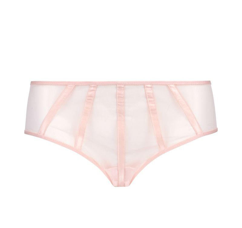 Satin contour shorty [Pantry Pink]