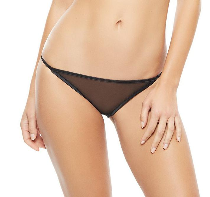 Sheer Black Brief