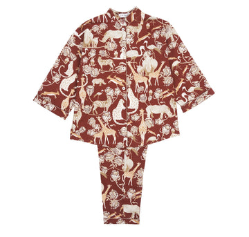 Red pattern pyjamas