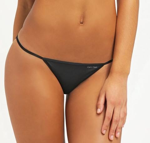 Sleek string bikini [Black] - The Pantry Underwear